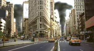 Disaster Zone Volcano in New York - scene