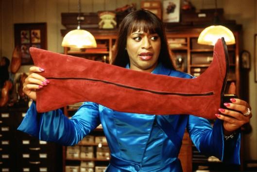 Pictured: Lola (Chiwetel Ejiofor ) in Julian Jarrold's 'Kinky Boots'.